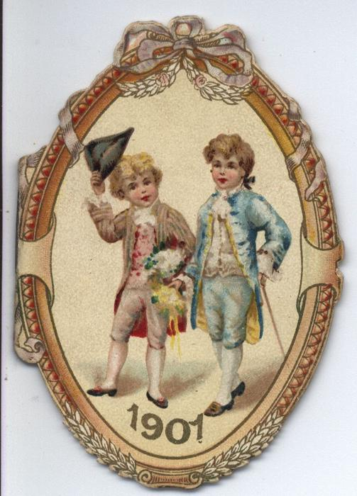 1901 (cameo of two young gentlemen)