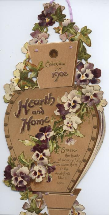 HEARTH AND HOME CALENDAR FOR 1902 (no calendar attached ?not complete)