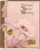 SINCERE GOOD WISHES white poppy & bud