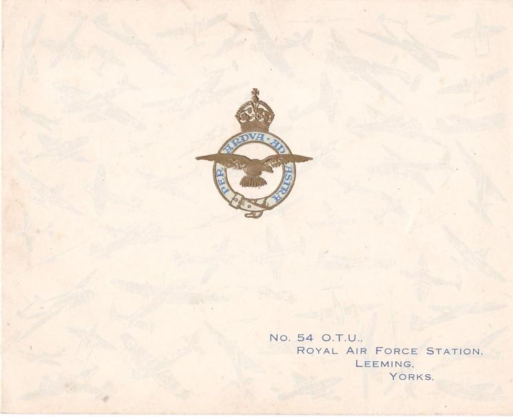 NO. 54 O.T.U., ROYAL AIR FORCE, LEEMING, YORKS