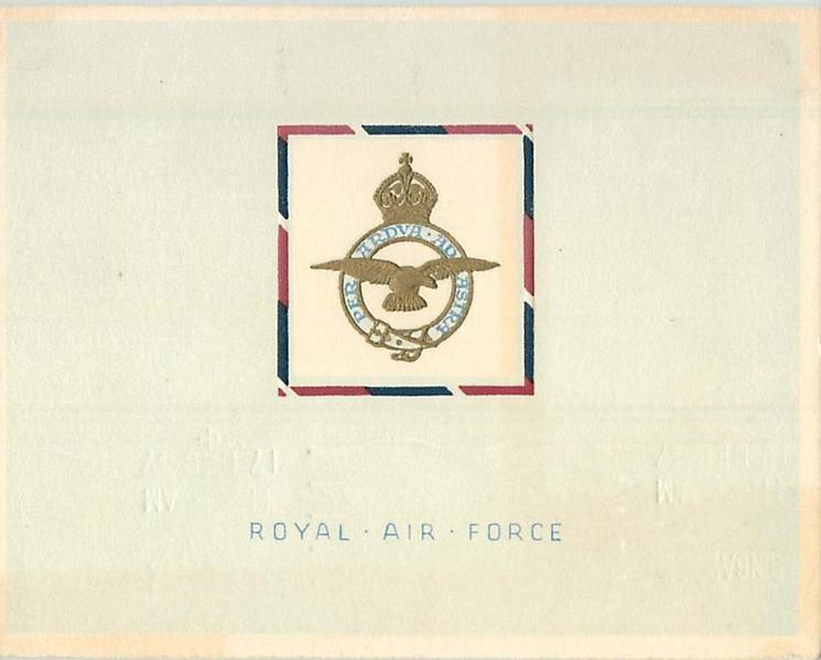 ROYAL AIR FORCE (front) -- R.A.F. STATION, PATA LEBAR, SINGAPORE (inside)
