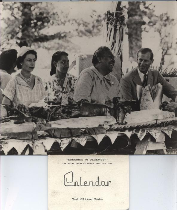 """SUNSHINE IN DECEMBER"" THE ROYAL FEAST AT TONGA, DEC 19TH,1953"