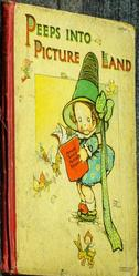 PEEPS INTO PICTURE LAND little girl in large hat holds book
