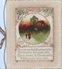MERRILY RING THE CHRISTMAS BELLS....HEART ABIDE designed circular inset, rural church, evening, & light brown margins