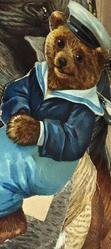 teddy bear in blue navy suit