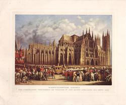 WESTMINISTER ABBEY large crowd gathered for Coronation Procession of William IV