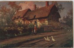 ANN HATHAWAY'S COTTAGE SHOTTERY STRATFORD-ON-AVON (title on image)
