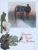 SINCERE GOOD WISHES in red, man with horse & cart walk forward, snow scene, pansies left