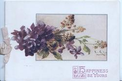 HAPPINESS BE YOURS in purple, violets & mignonette
