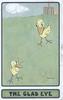 THE GLAD EYE below 2 fantasy birds on large green inset