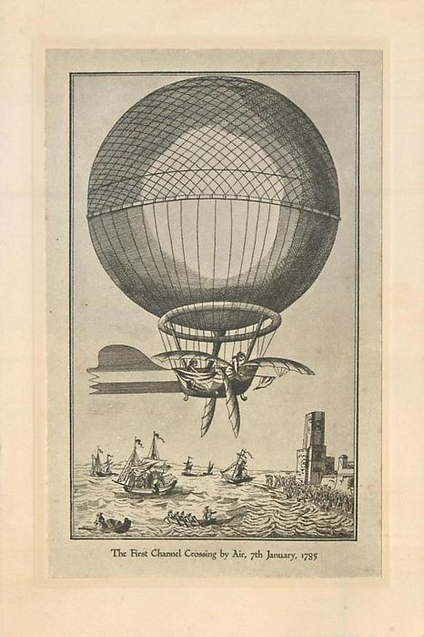THE FIRST CHANNEL CROSSING BY AIR, 7TH JANUARY, 1785
