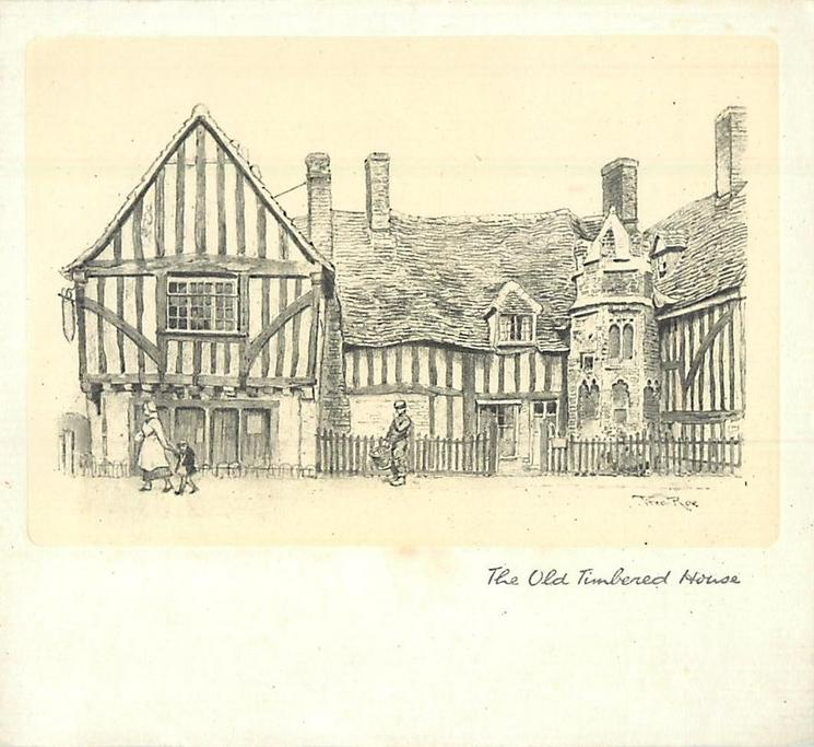 THE OLD TIMBERED HOUSE large tudor style cottage