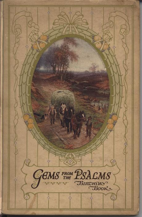 Gems From The Psalms Birthday Book Oval Picture In