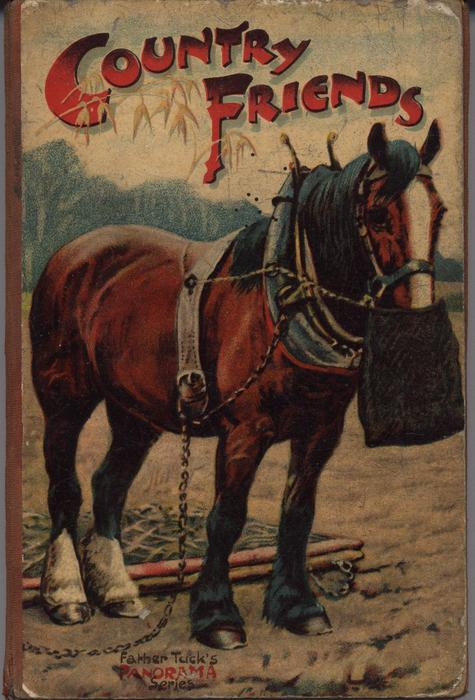 COUNTRY FRIENDS workhorse with harness and feedsack