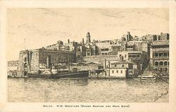 MALTA. H.M. DOCKYARD (SHEER BASTION AND MAIN GATE)