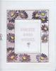 SINCERE GOOD WISHES on central plaque surrrounded by purple daisies with yellow centres