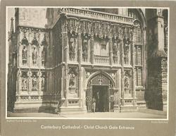 CANTERBURY CATHEDRAL - CHRIST CHURCH GATE ENTRANCE