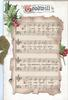GOODWILL(illuminated G) on white plaque above musical scroll & berried holly