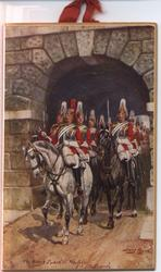 THE KING'S GUARD AT WHITEHALL (title on reverse)
