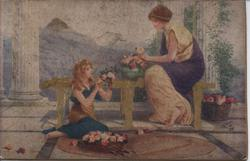 A GRECIAN FLOWER GIRL (title on reverse)