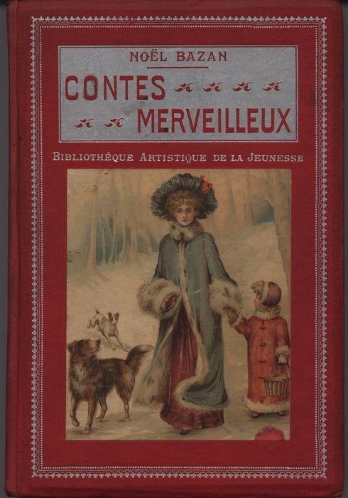CONTES MERVEILLEUX red covers with silver accents