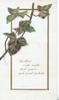 BE BLEST WITH HEALTH AND PEACE AND SWEET CONTENT in gilt bordered white plaque,  ivy above