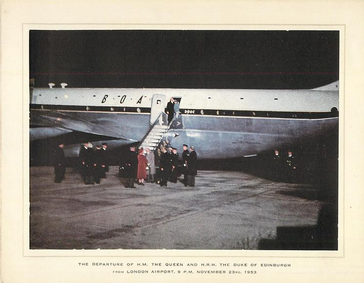 THE DEPARTURE OF H.M. THE QUEEN AND H.R.H. THE DUKE OF EDINBURGH photographic
