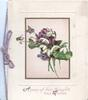 A POSY OF FAIR THOUGHTS AND WISHES below violets & snowdrops