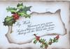 MY WISH and Whittier quote on brown-edged plaque, berried holly above & below