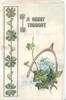 A MERRY THOUGHT wishbone above ivy and forget-me-nots