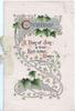 CHRISTMAS(illuminated C) on silver plaque above A DAY OF JOY - A TRUE RED-LETTER DAY ivy in complex design