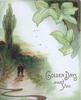 GOLDEN DAYS AWAIT YOU in gilt below ivy & right of evening rural scene, man walks front