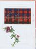 FOR AULD LANG SYNE in gilt on tartan plaque above purple thistle
