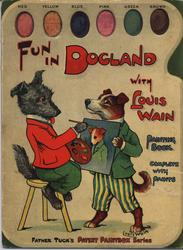 FUN IN DOGLAND PAINTING BOOK WITH  LOUIS WAIN