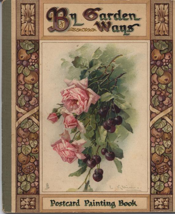 BY GARDEN WAYS pink roses and grapes