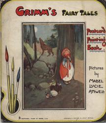 GRIMM'S FAIRY TALES POSTCARD PAINTING BOOK