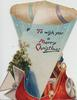 TO WISH YOU A MERRY CHRISTMAS, airship carries Santa in his car, very unusual cut & fold, scant holly