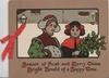 SEASON OF FROST...... verse 2 girls in snowy  inset, one carries holly