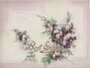 BEST WISHES in gilt below purple heather, pale purple marginal design