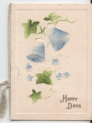HAPPY DAYS ivy leaves, forget-me-nots and bells