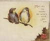 SINCERE GOOD WISHES(S,G &W illuminated) in gilt, 2 birds of happiness perch on snowy branch