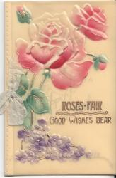 ROSES FAIR GOOD WISHES BEAR roses and violets