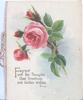 FRAGRANT WITH FAIR THOUGHTS... below evening rural scene & pink roses below
