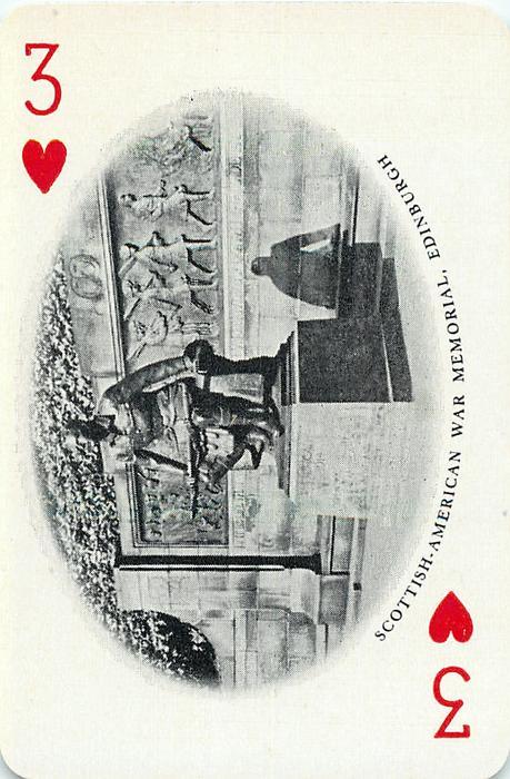 3 of Hearts SCOTTISH AMERICAN WAR MEMORIAL, EDINBURGH