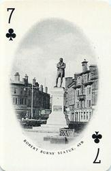 7 of Clubs ROBERT BURNS' STATUE, AYR