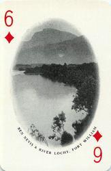 6 of Diamonds BEN NEVIS & RIVER LOCHY, FORT WILLIAM