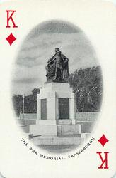 King of Diamonds THE WAR MEMORIAL, FRASERBURGH