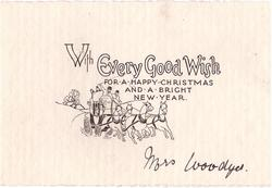 WITH EVERY GOOD WISH FOR A HAPPY CHRISTMAS AND A BRIGHT NEW YEAR simple stagecoach drawing