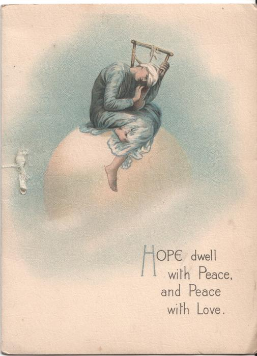 HOPE DWELL WITH PEACE, AND PEACE WITH LOVE woman sitting on moon