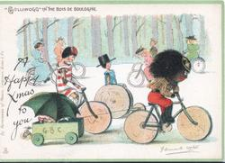 """GOLLIWOGG"" IN THE BOIS DE BOULOGNE , A HAPPY XMAS TO YOU"